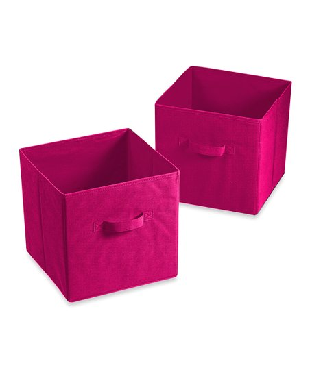 Flash E-Sales Pink Cube Bedroom Storage Bins - Set of Two ...