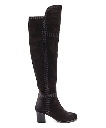 8990d58f5 Coconuts by Matisse Black Moon Suede Knee Boot - Women   Zulily