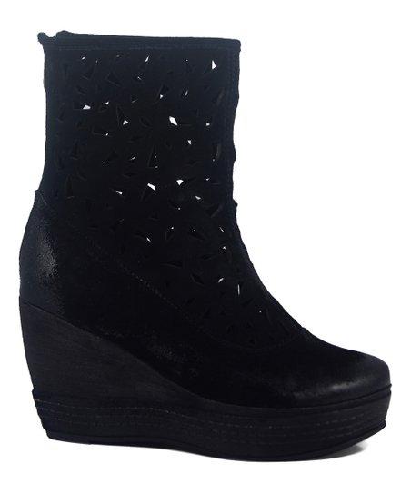 0d3ccc7f024b Antelope Black Laser-Cut Suede Boot - Women