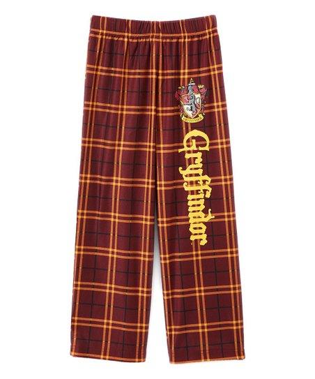 bbc9bc5bf862 Intimo Harry Potter Plaid Gryffindor Pajama Pants - Boys   Mens ...