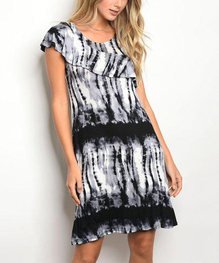 Tie Dye Scoop Neck Dress
