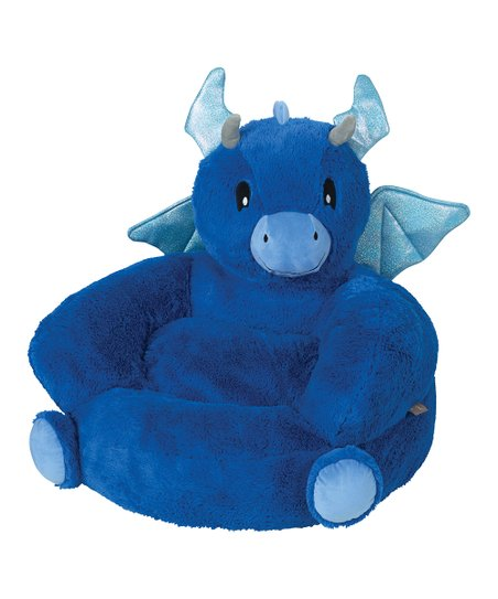 Trend Lab Blue Dragon Plush Chair