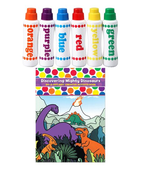 Do-A-Dot Art Rainbow Do-A-Dot Marker & Mighty Dinosaurs Activity Book Set