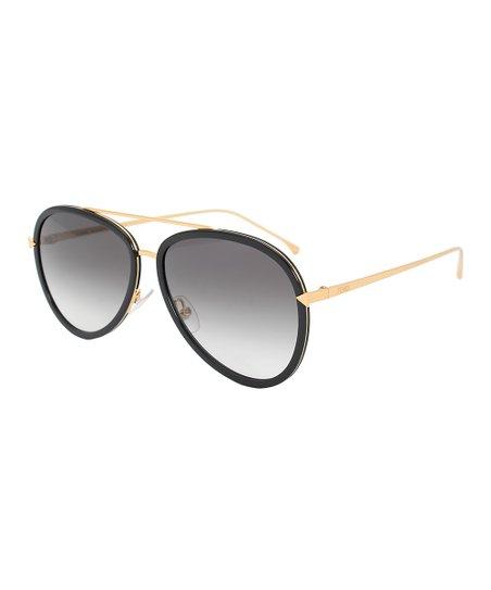 2b72680921 Fendi Black Gradient Aviator Sunglasses - Women
