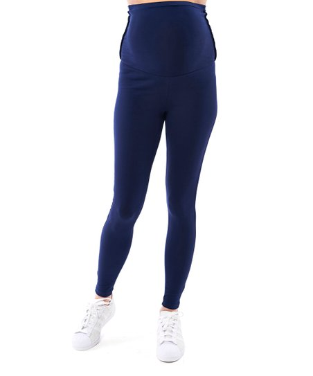 b24f3b8d5fb Motherway Maternity Navy Maternity Leggings - Plus Too