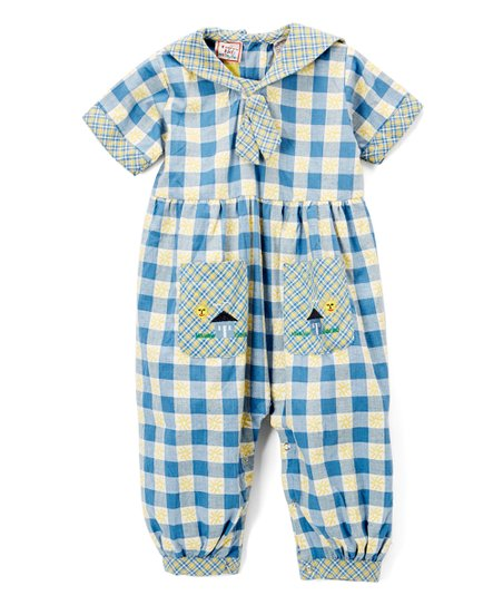 f4d87709aa24 love this product Blue   Yellow Checkerboard Romper - Infant   Toddler