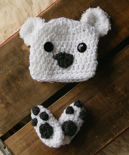 Maddies Mad Hatters White Polar Bear Beanie - Newborn  2a56c45d29a