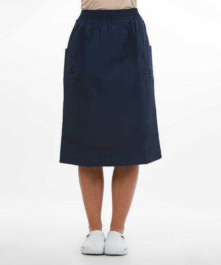a18009613d9 Mazel Uniforms Navy Blue Cargo Pocket Skirt - Women   Zulily