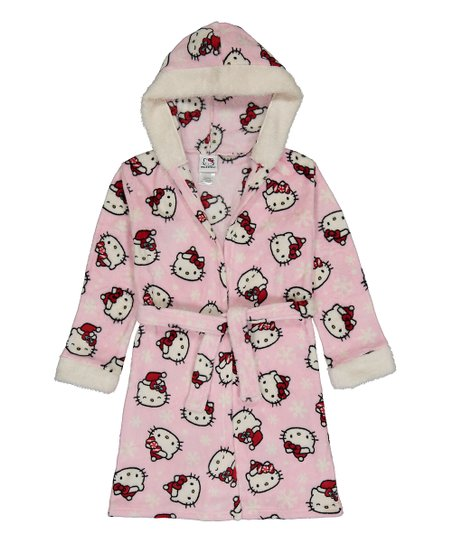 7448ef11f5 love this product Pink Hello Kitty Hooded Robe - Girls