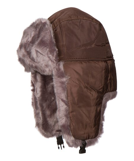 b0bed1eebaf Brown Tan Faux Fur Lined Trer Hat Zulily