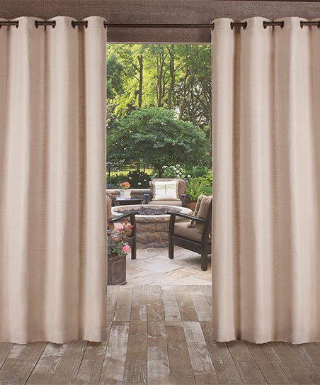 Exclusive Home Taupe Delano Indoor Outdoor Curtain Panel Set Of