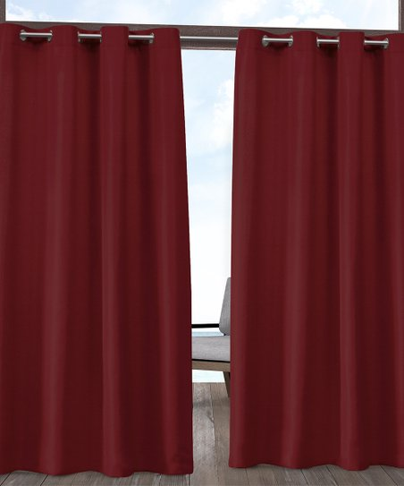 Exclusive Home Radiant Cabana Red Indoor Outdoor Curtain Panel Zulily
