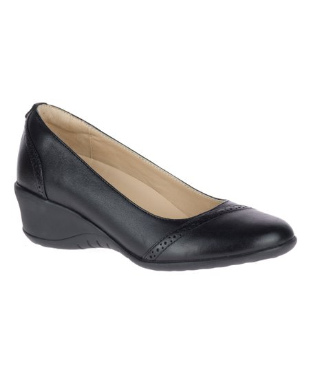367214ee703 Hush Puppies Black Odell Leather Slip-On Pump - Women | Zulily