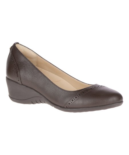 d2bd9e0c40a Hush Puppies Dark Brown Odell Leather Slip-On Pump - Women | Zulily