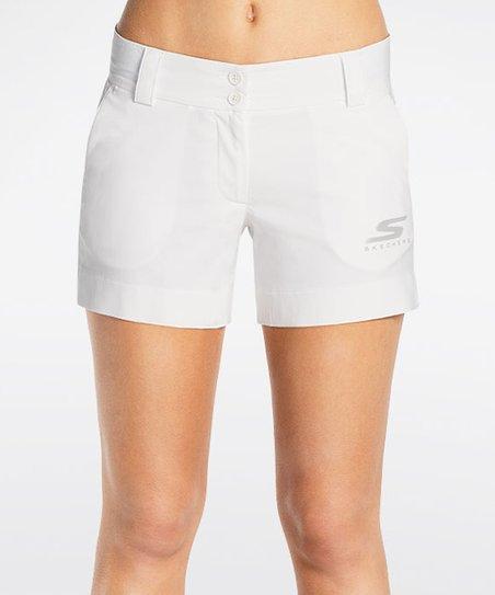 Skechers White Push Fade Shorts | Zulily