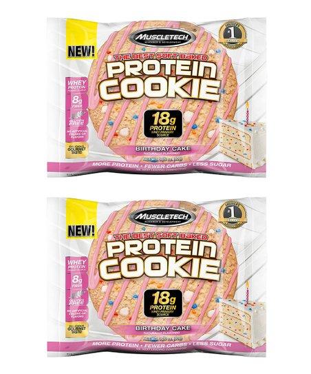 12 Ct Birthday Cake Protein Cookie Set