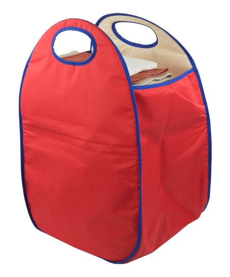 Red Mesh Laundry Hamper