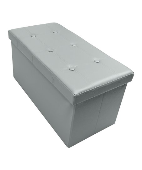 Surprising Sorbus Gray Faux Leather Folding Storage Ottoman Zulily Cjindustries Chair Design For Home Cjindustriesco