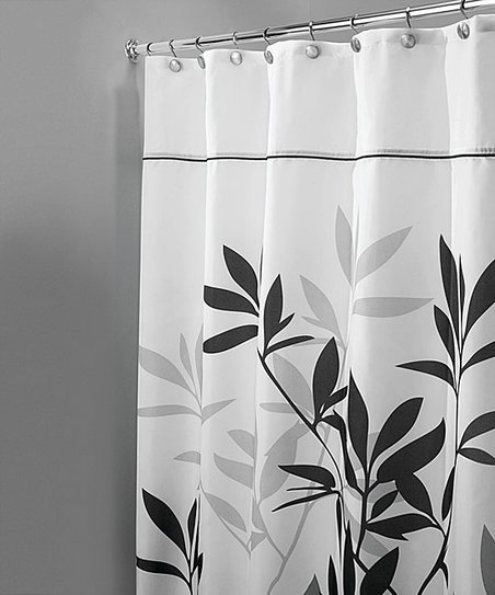Love This Product Black Gray Leaves Shower Curtain