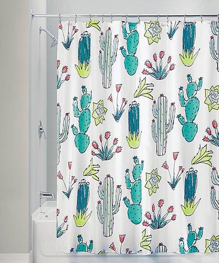 IDesign Cactus Shower Curtain