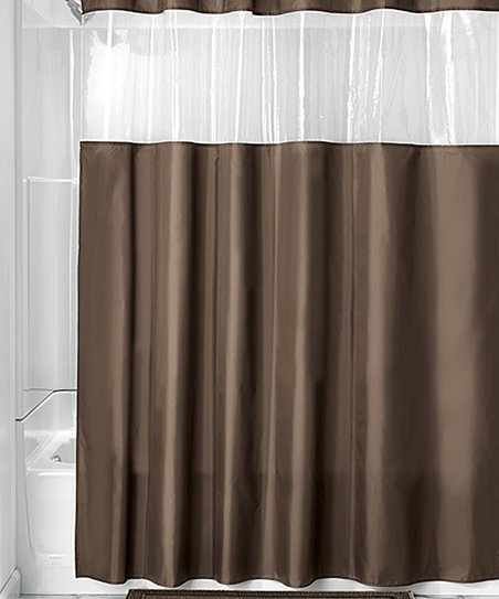 Chocolate Clear View Shower Curtain