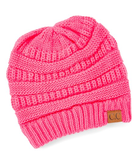 9cc2bdd7fad love this product New Candy Pink Rib-Knit Beanie - Women