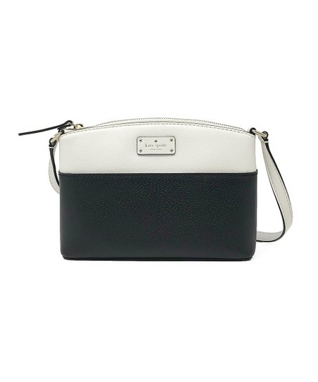 Kate Spade Black   Cement Grove Street Millie Leather Crossbody Bag ... 9af97c88c9