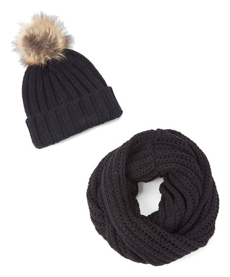 eab80f46731 love this product Black Chunky Knit Beanie   Infinity Scarf Set