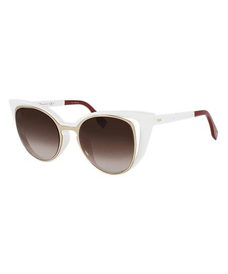 e36de2b4a0a15 love this product White   Brown Gradient Cat-Eye Sunglasses