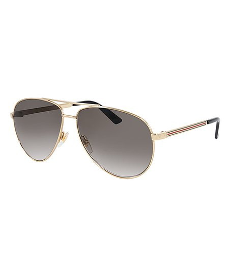 04cf813e528 Gucci Brown Gradient Aviator Sunglasses - Men