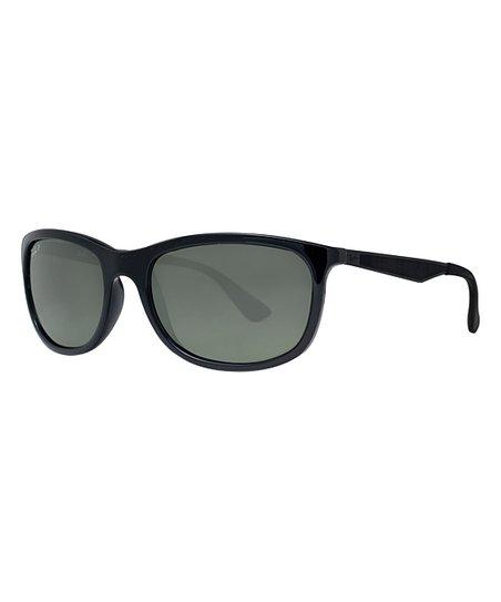 d5ef70435ac love this product Black   Green Polarized Square Sunglasses - Unisex -  Unisex