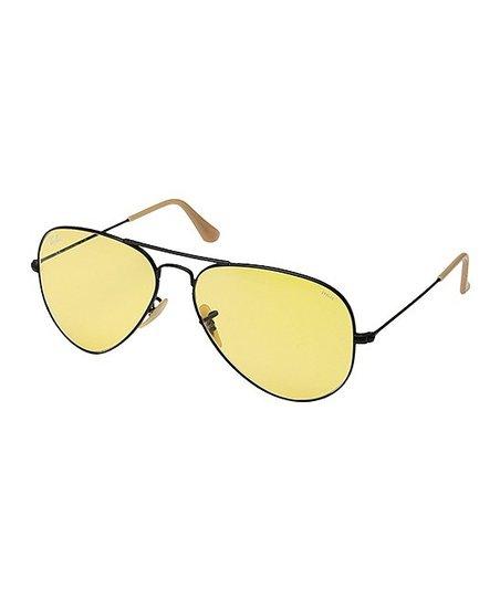 Ray-Ban Black   Yellow Aviator Photochromatic Sunglasses - Adult ... 8bc40951c