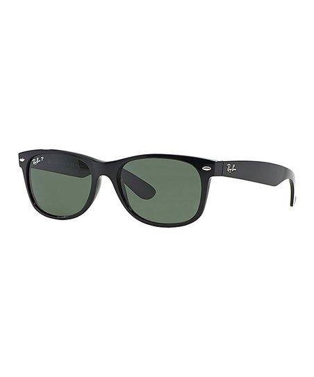 Ray-Ban Black   Green Wayfarer Polarized Sunglasses - Unisex  63413e001dfff