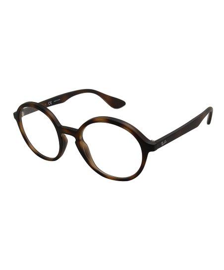 f2074edf6b Ray-Ban Matte Havana Round Eyeglasses - Women