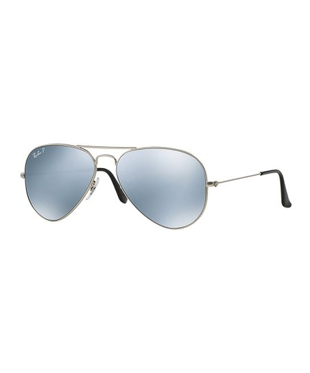 bc32addd76 love this product Silver   Ice Blue Gradient Polarized Aviator Sunglasses -  Women