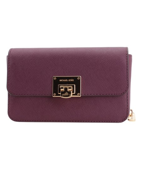 3a52f5f6d0a8 love this product Brown & Plum Tina Leather Crossbody Bag & Detachable  Wallet
