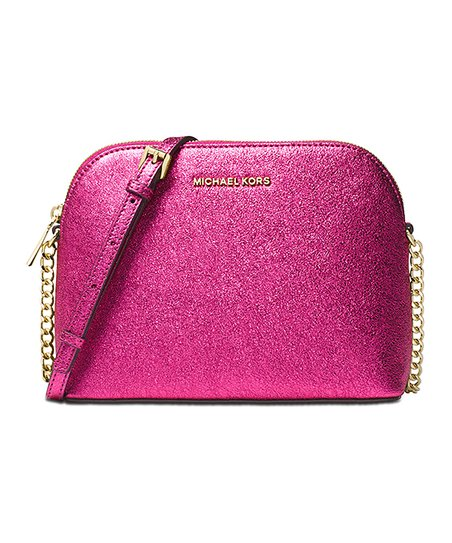 737dfda36e52 Michael Kors Ultra Pink Dome Leather Crossbody Bag | Zulily