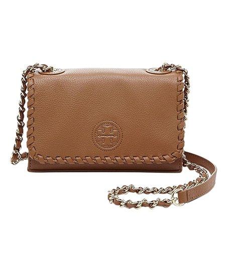 02834abf42bc Tory Burch Bark Marion Shrunken Leather Shoulder Bag