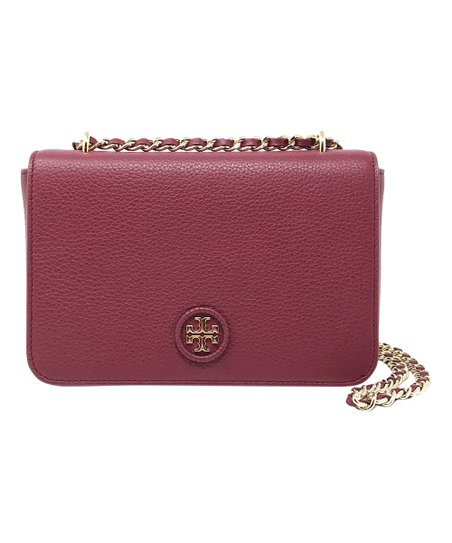 d44f3f8b262 love this product Red Agate Whipstitch Logo Adjustable-Chain Leather  Crossbody Bag