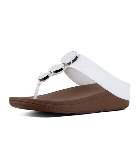 28f642eb0 love this product Urban White Halo Leather Toe-Thong Sandal - Women