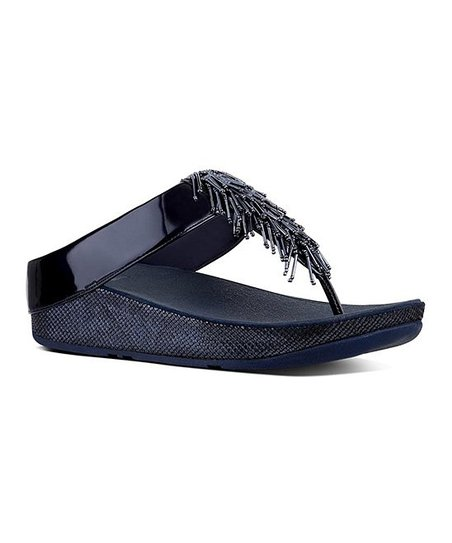 fddfe5021d1b2e love this product Midnight Navy Cha Cha Leather Sandal - Women