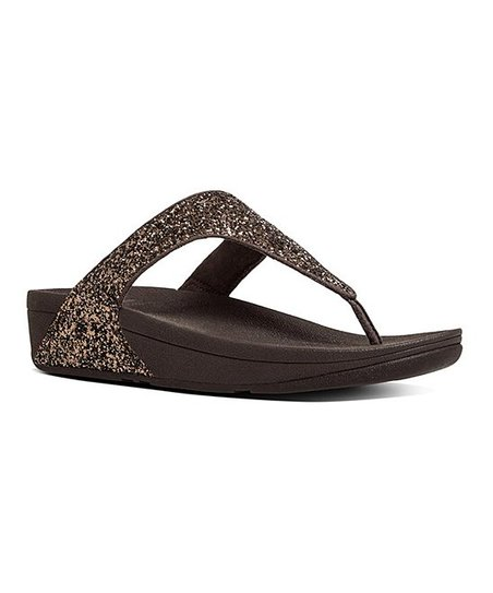 a50c1c8de7050b FitFlop Bronze Glitterball Nubuck Toe-Post Sandal - Women