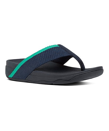 292c40d52809ab love this product Midnight Navy   Parakeet Green Surfa Pretty Sandal - Women