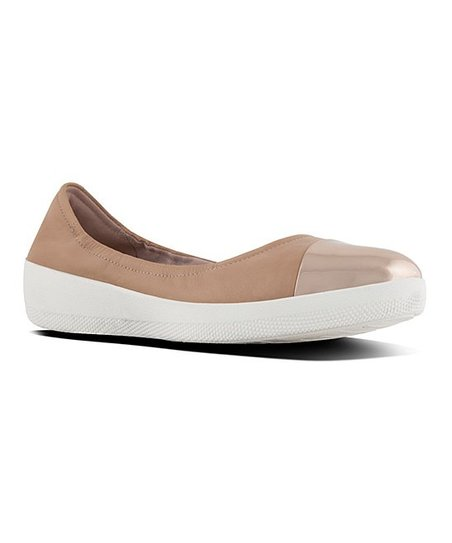 79f51280851 love this product Nude SuperBendy Leather Ballerina Flat - Women
