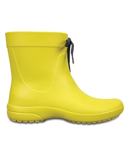 Crocs Lemon Freesail Short Rain Boot - Women  c5525dbd56