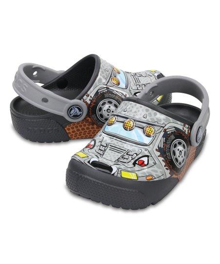1a295ace19bf17 Crocs Graphite Monster Truck Fun Lab Lights Clog - Kids