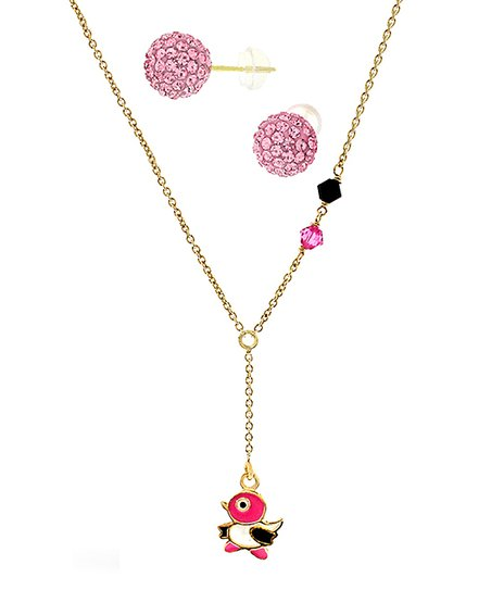 bf39991c21b6 love this product Pink Bird Necklace   Stud Earrings With Swarovski®  Crystals