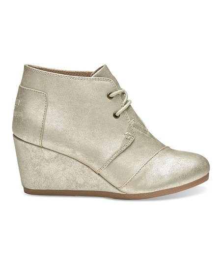 1cbd2318e2a love this product White Gold Desert Wedge Bootie - Women