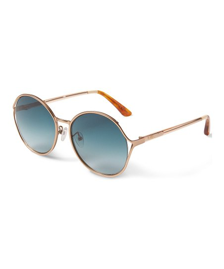 e3aa771a8022 love this product Satin Gold Peach & Aqua Blythe Sunglasses