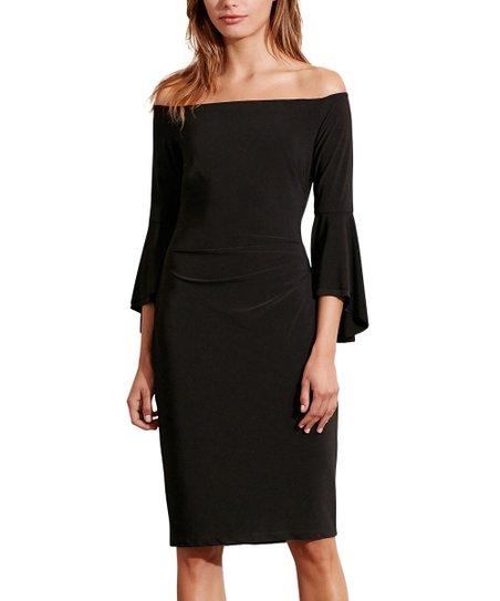 Lauren Ralph Lauren Black Off Shoulder Bodycon Dress Women Zulily